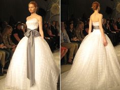 We love this gingham tribute to Americana at Kleinfeld Bridal!
