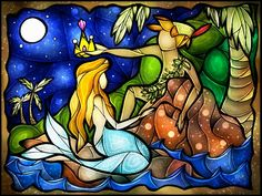 Stained Glass Fairytales - Peter Pan