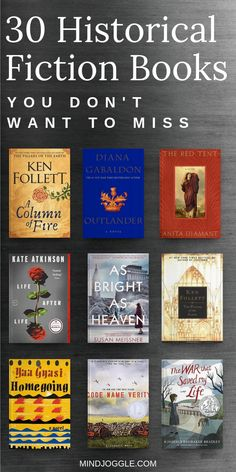 Book List of the Best Historical Fiction Books 30 Historical Fiction You Don't Want to Miss Must-read historical fiction novels to add to your lifetime reading list - Books Best Historical Fiction Books, Fiction Books To Read, Best Books To Read, Best History Books, Must Read Novels, Book To Read, Book List Must Read, Recommended Books To Read, Best Books List