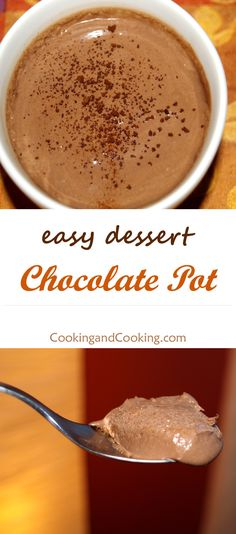 Try handmade Chocolate Pot recipe, it is a very rich, delicious and easy to make chocolate dessert.