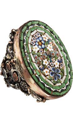 Sandra Dini Micro Mosaic Ring http://www.copperwiregranulator.com/