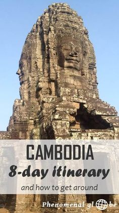 An 8 day itinerary for Kampot, Phnom Penh and Siem Riep in Cambodia. Information how to get from A to B and downloadable map with highlights and route.