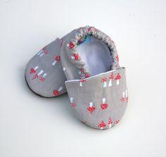 Gray Mushroom Organic Cotton Baby Shoes