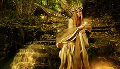 Celtic Gods and Goddesses - Dragonsbreath blessings Irish Mythology, Autumn Fairy, Fairy Queen, Fairy Pictures, Goddess Of Love, Moon Goddess, Fairy Godmother, Magical Creatures, Forest Creatures