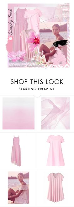 """Simply Pink"" by thesazzy ❤ liked on Polyvore featuring MAC Cosmetics, TIBI, Maiocci and Canvas by Lands' End"