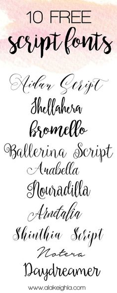 These 10 fancy fonts will be perfect for your next DIY! They're all free, so click on to find out where you can get them!
