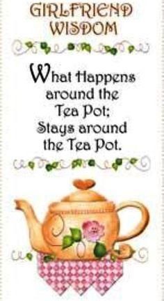 Girl friends tea time