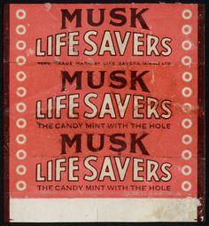 Australia - Life Savers - Musk flavor  candy 1950's