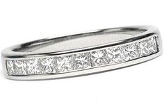 14K White Gold Princess Cut .40CT Diamond Wedding Anniversary Ring