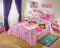 Edrecolcha Dora la Exploradora #intimahogar #intimajunior #decoracion #recamara #niños #kids #room