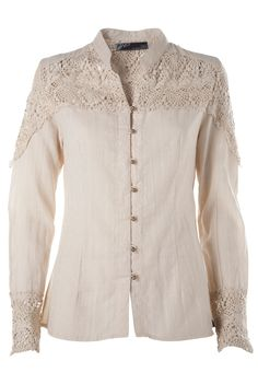 Classic shirt with beautiful lace shoulder detail