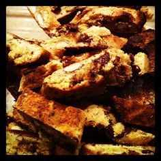 "Cantuccini: typical italian biscuits invented in Prato (next to Florence) they're usually served with ""vinsanto"" a sweet wine used for desserts"