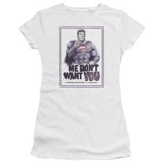 Superman: Don'T Want You Junior T-Shirt