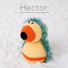 Hector the crochet Hedgehog Crochet Animals, Crochet Toys, Crochet Hedgehog, Halloween, Hats, Funny, Collection, Autumn, Amigurumi
