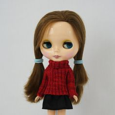 New to AnneArchy on Etsy: Blythe doll Anastasia Sweater knitting PATTERN - long sleeve big neck pullover 4 Neo - instant download - permission to sell finished items (5.00 USD)