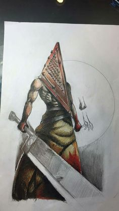 Pyramid Head Silent Hill Draft Tattoo by Hari Shing