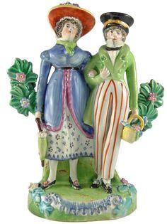 The Dandies, Staffordshire Bocage figures!