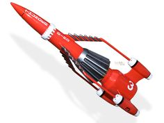 Thunderbird 3, the only red Thunderbird craft. RIP Gerry Anderson.