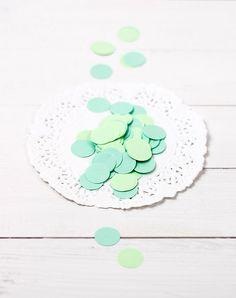 200 confetti di carta  tonalità verde di ilgattogoloso su Etsy, €3.00