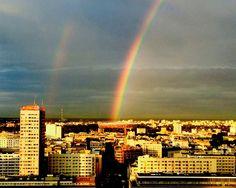 Takie niebo nad PGE Narodowym uchwyciła Małgorzata Lampka! Dziękujemy za fotę :-) A jak wyglądała Wasza wieczorna Warszawa po deszczu? ;-)