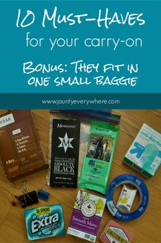 10 Must-Have travel items for your carry-on. Bonus: They all fit in one baggie. www.jauntyeverywhere.com #jauntyeverywhere #packing #travelpacking #vacationpacking Backpacking Packing List, Weekend Packing List, Packing For Europe, Packing For A Cruise, Packing List For Travel, Packing Tips, Honeymoon Packing, Vacation Packing, Smooth Move Tea