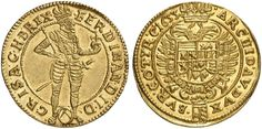 Holy Roman Empire AV Dukat 1633 Vienna Mint Emperor Ferdinand II