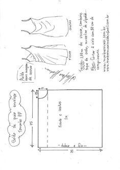 Saída de praia envelope - Learn Tutorial and Ideas Sewing Dress, Dress Sewing Patterns, Diy Dress, Sewing Clothes, Clothing Patterns, Diy Clothes, Skirt Patterns, Xl Fashion, Fashion Sewing