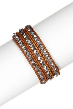 Chan Luu beaded leather wrap, adorable! $123.00