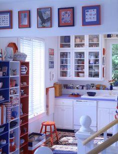 A classic, retro inspired patriotic kitchen
