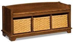 Amish Lattice Weave Storage Bench