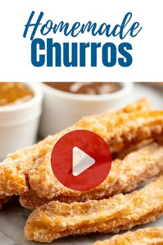Homemade Mexican Churros – miss.julie Homemade Mexican Churros There's nothing quite like freshly fried Homemade Churros. These churros are flaky and warm and practically melts in your mouth! And they are deliciously easy to make at home! Mexican Food Recipes, Sweet Recipes, Easy Desert Recipes, Mexican Snacks, Southern Recipes, Vegetarian Recipes, Healthy Recipes, Delicious Desserts, Yummy Food