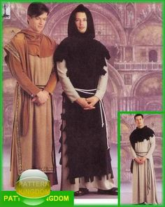 McCalls 9426 Medieval Monk Robe Monastery Garment Patterns