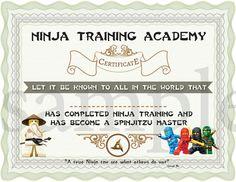 INSTANT DL Ninjago opleidingscertificaat Ninjago door TeaTimeJo