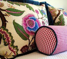 pillows! (Villa Romo fabric). Beckley Design Studio. -via Interior Canvas