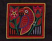 Museum Quality Mola Bird - Outstanding Kuna Indian Reverse Applique Mola/Molita Textile Art