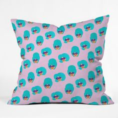 Colorful Girls | Throw Pillow | Bouffants and Broken Hearts | DENYDesigns.com