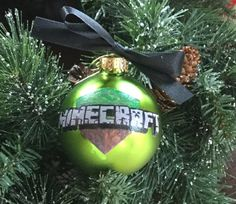 Personalized Green Minecraft Christmas by GingerspiceStudio