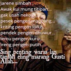 25+ Gambar Kata Kata Lucu Bahasa Jawa 2017 - Gambar Lucu Terbaru Indonesian Language, Quotes Lucu, Doa Islam, Self Reminder, Positive Quotes, Religion, Javanese, Positivity, Humor