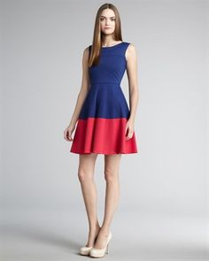 Pretty sure my mom already owns this, but I still want it. Shoshanna Colorblock Dress