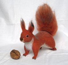 Felt toy Squirrel... I will make this item for your door GladOArt, $110.00