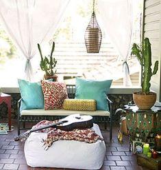 Colorful Boho Chic Balcony Décor Ideas ~ Smallhomedesignideas.CoM ツ ツ