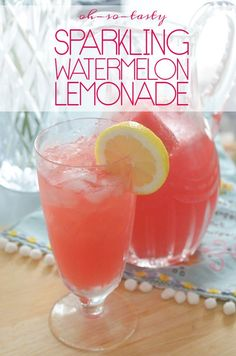 Sparkling Watermelon Lemonade... Literally the best sparkling water ever.