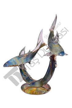 Murano Cam Köpekbalıkları, By TagliaPietra Andrea, 58x45x23cm, 15kg