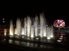 Fête des Lumières 2012 quais du Rhône fontaine