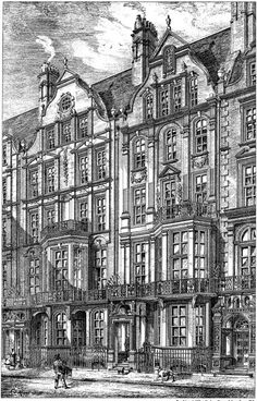 1880 - Houses, Cadogan Square, Chelsea, London - Archiseek.com