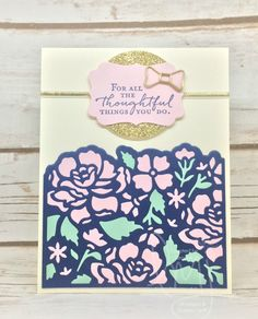Thoughtful | Stampin' Up! | Floral Phrases | Stylin' Stampin' INKspiration #ssink | Hand Stamped Sentiments #HSS240 #literallymyjoy #flower #thoughtful #mintmacaron #20162017AnnualCatalog