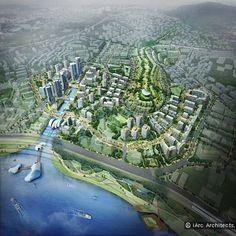 서울시에서 경관건축가를 지명하여 진행되었던 한남 재정비 촉진지구 주거유형 다양화 사업에서 아이아크의 안이 2등을 하게 되었습니다. 당선안이 한남동의 언덕을 없애고, 단순한 유형의 공동주택을 나열한 것에 비해 언덕을 살리며, 다양한 테라스 하우스를 배치하고, 한강을 이용하는 새로운 제안을 하는등 서울시의 경관과 도시생활을 진일보 시킬 수 있었던 안이 었지만, 아쉽게 2등에 머물게 되었습니다.  Project Archit..