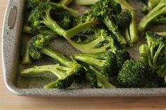 oven-roasted broccoli with soy sauce and lemon