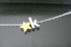 Lowercase Initial Necklace Alphabet Letter Charm by ElegantSwan, $25.75