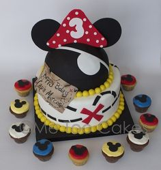 Birthday - Me Too Cakes Amy Landini Kathuria Fiesta Mickey Mouse, Mickey Mouse Bday, Mickey Party, Pirate Birthday, Mickey Mouse Birthday, Pirate Party, Pirate Theme, 5th Birthday, Themed Birthday Cakes